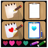 Document and Pencil Vector Icon - Illustration Royalty Free Stock Images