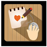 Document and Pencil Vector Icon - Illustration Stock Photo