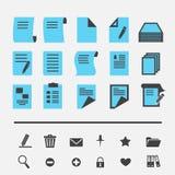 Document pictogram Stock Foto