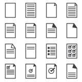 Document pictogram, de vectorstijl van het illustion vlakke ontwerp Stock Foto