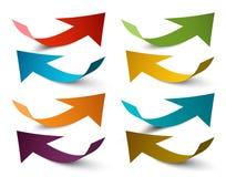 Document pijlen Vector kleurrijke pijl stock illustratie