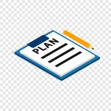 Document plan isometric icon Royalty Free Stock Photos