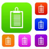 Document plan set collection. Document plan set icon in different colors isolated vector illustration. Premium collection Royalty Free Stock Photos