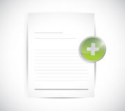 Document and a plus sign. illustration design Stock Image