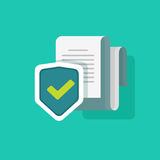 Document protection concept, confidential information and privacy idea, security documentation access or documents Stock Photo