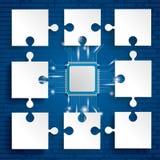 Document Raadselsmicrochip vector illustratie