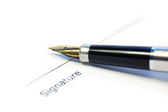 A document ready for signature Royalty Free Stock Photography