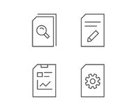 Document, Report and Edit file line icons. Royalty Free Stock Image
