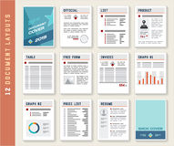 Document Report Layout Templates mockup Set Stock Photo