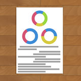 Document with round charts Stock Photos