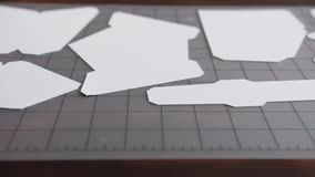 Document scherpe plotter, document eenhoorn stock videobeelden