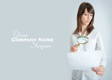 Document scrutiny Stock Photos