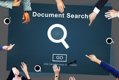 Document Search Finding Forms Inspect Letters Concept Stock Images
