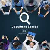 Document Search Finding Forms Inspect Letters Concept Royalty Free Stock Image
