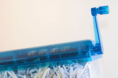 Document security. Paperwork shredded to protect privacy Stock Photography