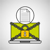 Document security internet technology Royalty Free Stock Photos