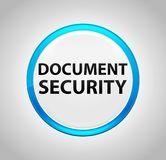 Document Security Round Blue Push Button stock illustration
