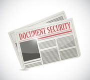 Document security newspaper illustration Stock Photography