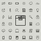 Document shelf icon. Detailed set of minimalistic icons. Premium graphic design. One of the collection icons for websites, web des. Ign, mobile app on colored Royalty Free Stock Images