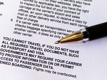 Document and signed Royalty Free Stock Photo