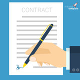 Document signing vector icon.