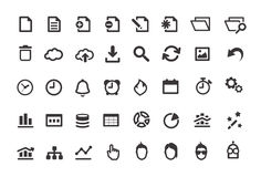 Document Simple Icons Set Royalty Free Stock Photos