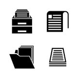 Document. Simple Related Vector Icons Stock Photography