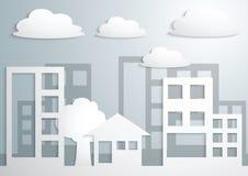Document Stad en Gebouwen vector illustratie