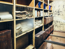 Document storage room with Stack of papers Royalty Free Stock Image