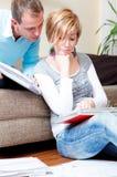 Document sur papier de couples Photos libres de droits