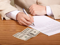 Document on table Royalty Free Stock Photo