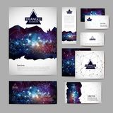 Document template with polygonal geometric space abstract background. Document template with polygonal space abstract background vector illustration
