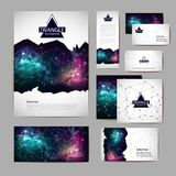 Document template with polygonal geometric space abstract background. Document template with polygonal space abstract background royalty free illustration