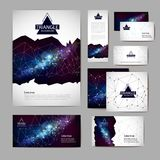 Document template with polygonal geometric space abstract background. Document template with polygonal space abstract background stock illustration
