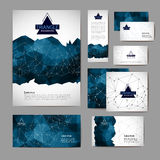 Document template with triangle  abstract background Stock Images