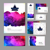 Document template with triangle geometric  background Royalty Free Stock Photos