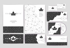 Document template with triangle geometric background Royalty Free Stock Photo