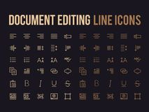 Document text editing vector line icon for app, mobile website r. Document text editing vector line icon for the app, mobile website responsive Royalty Free Stock Photography