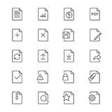 Document thin icons Stock Photography