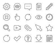 Document, Time and Calendar line icons. Question. Royalty Free Stock Photography