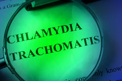 Document with title chlamydia trachomatis. Royalty Free Stock Image