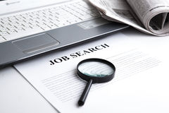 Document with the title of job search Stock Images