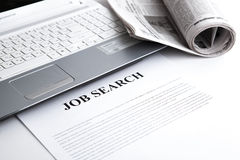 Document with the title of job search Royalty Free Stock Image