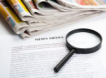Document with the title of news media Royalty Free Stock Photos