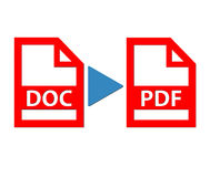 Document to pdf file Stock Images