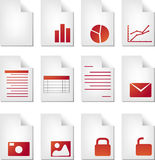 Document types Royalty Free Stock Photography