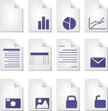 Document types Stock Photography
