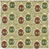 Document van de Stijl van de Ballen van Kerstmis het Uitstekende Royalty-vrije Stock Afbeelding