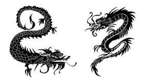 Document van een dierenriemsymbolen dat van Draakchina wordt verwijderd Royalty-vrije Stock Afbeeldingen