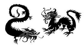 Document van een Draak China wordt verwijderd dat Stock Afbeeldingen